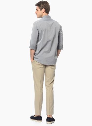 George Hogg Slim Fit Uzun Kollu Gömlek Gri